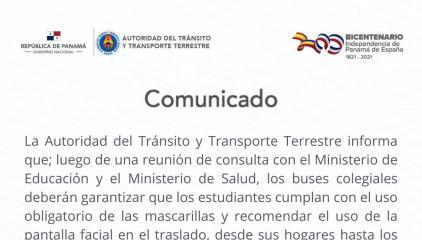 BUSCAN GARANTIZAR TRASLADO SEGURO DE LOS ESTUDIANTES A LAS ESCUELAS